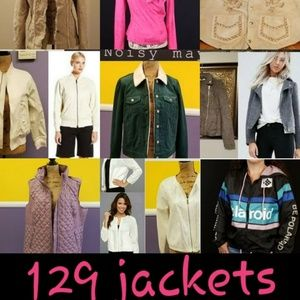 129 jackets in my closet 🔥☄ Use sort to look!